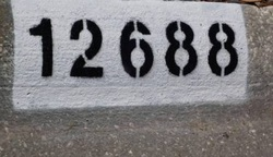 Curb Painting (Address Numbers) by CurbNumbers.com - since 1986